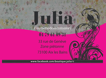 Carte de visite boutique julia